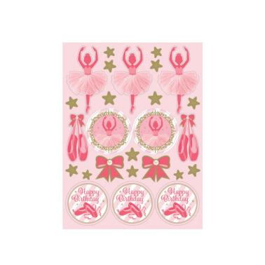 Sticker Ballerina, 4 Bögen