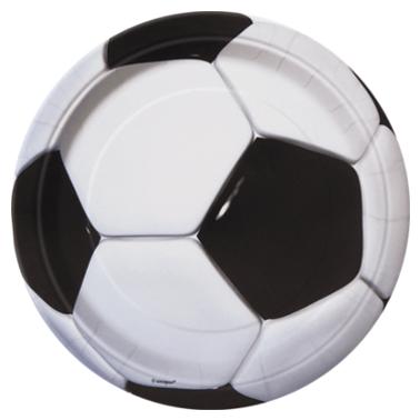 Pappteller Fußball ⌀ 23cm, 8 Stück