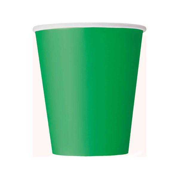 Pappbecher grün 270ml, 8 Stück