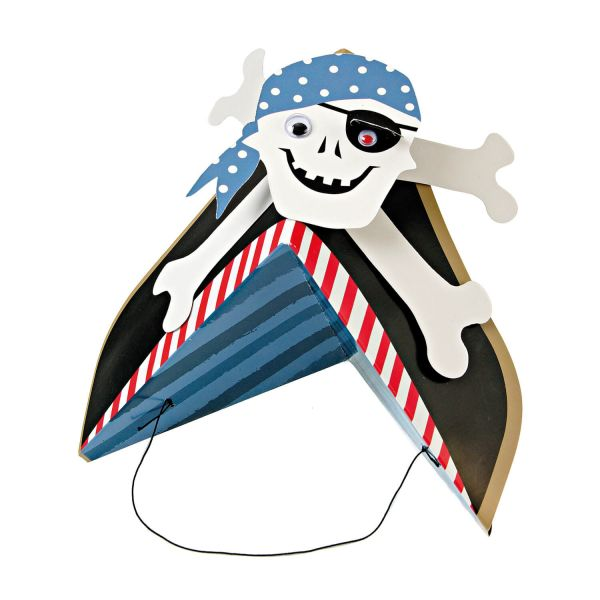 Partyhüte Pirat, 8 Stück