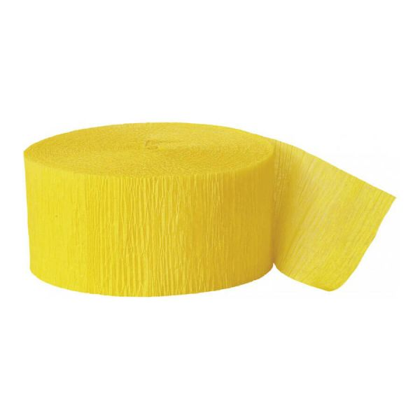 Kreppband gelb, 24,6m