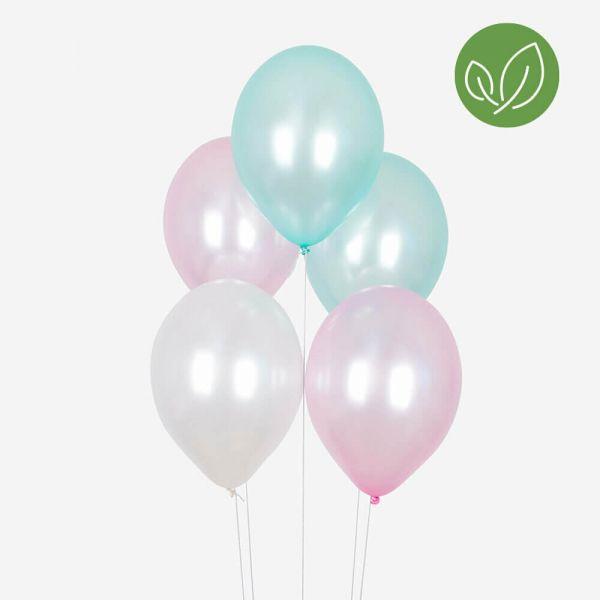 Luftballons Pastell-Mix Meerjungfrau, 10 Stück