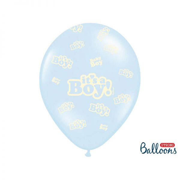 Luftballon It´s a Boy hellblau 30cm, 6 Stück