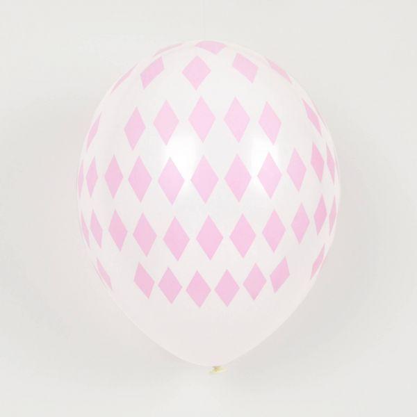 Luftballons Raute rosa, 5 Stück