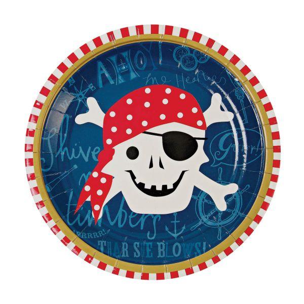 Pappteller Pirat ⌀ 18cm, 12 Stück