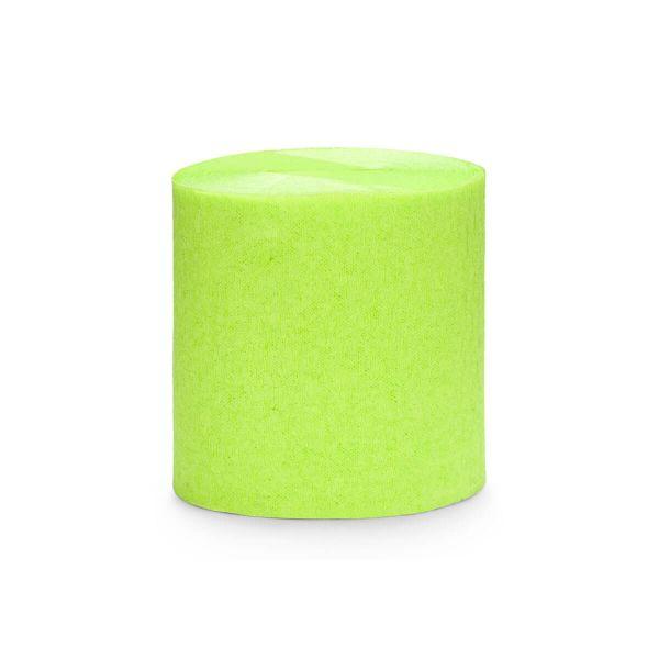 Kreppbänder lime grün, 4 Rollen à 5cm x 10m