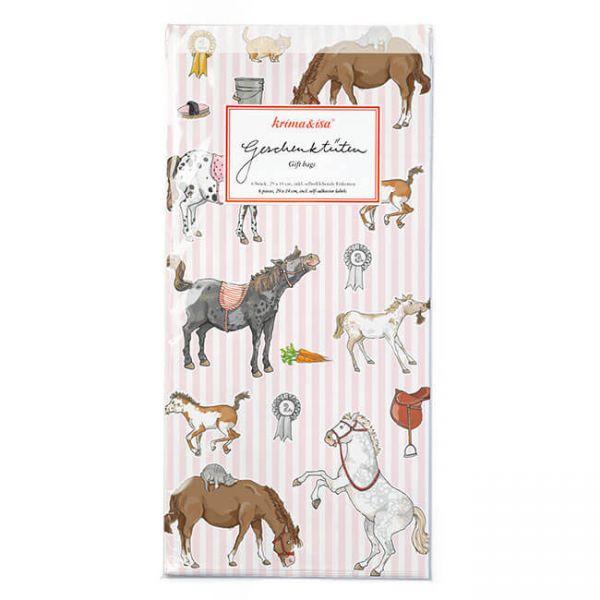 Geschenktüten Pony, 6 Stück