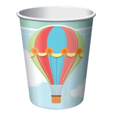 Pappbecher Baby-Ballon 256ml, 8 Stück