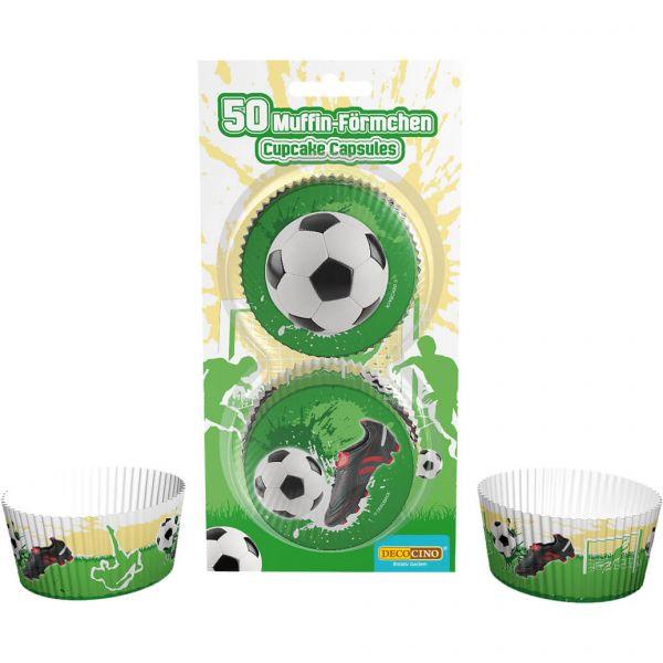 Muffin-Förmchen Fußball, 50 Stück