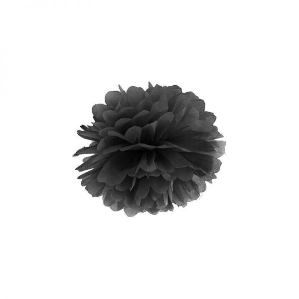 Pompon schwarz, 25cm