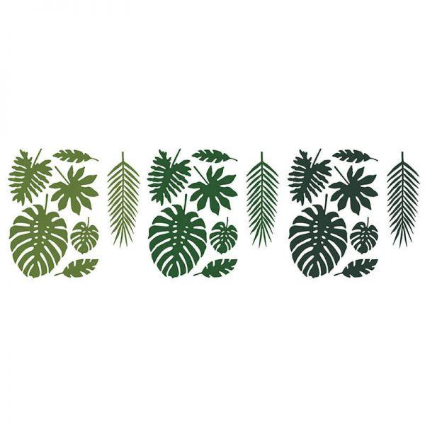 Deko Dschungel Tropische Blätter Mix, 21 Stück