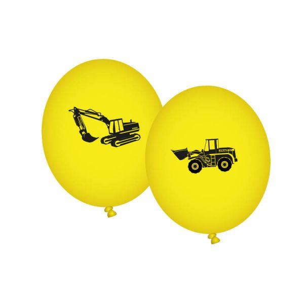 Luftballons Baustelle, 8 Stück