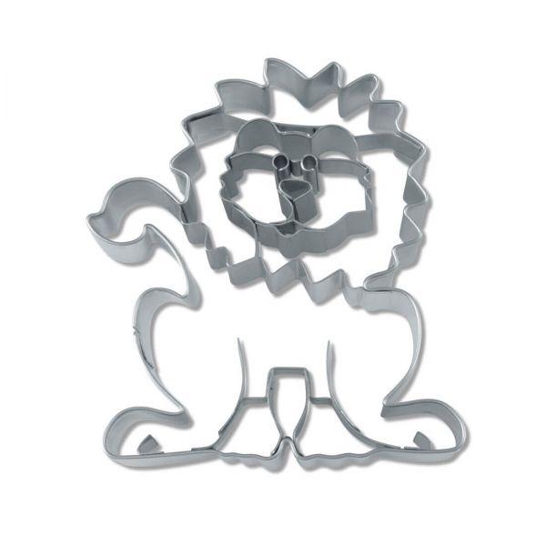 Ausstecher Löwe mit Innenprägung 7cm, Edelstahl