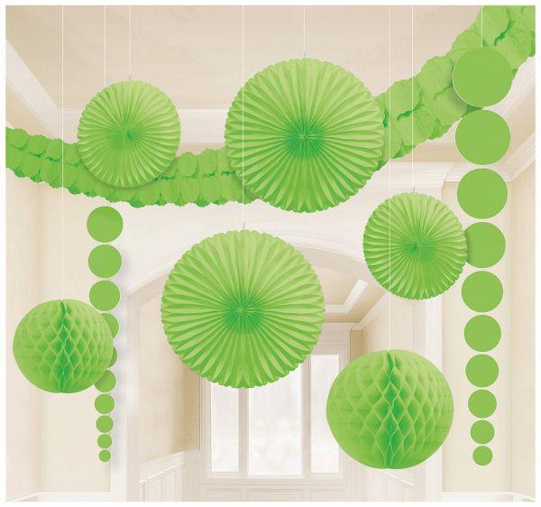 Dekorations-Set hellgrün, 9-tlg