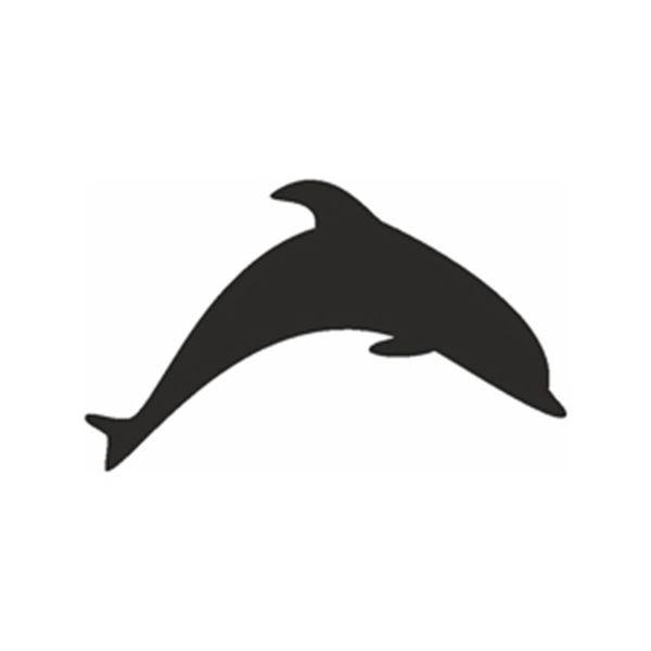 Selbstklebende Schablone Delphin