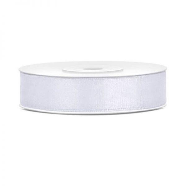 Satinband weiß, 12mm/25m, 1 Rolle