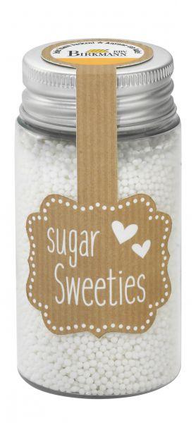 Zucker-Dekor Nonpareilles Weiß, 75g