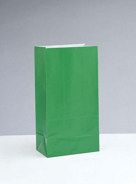 Partytüten aus Papier grün, 12 Stück