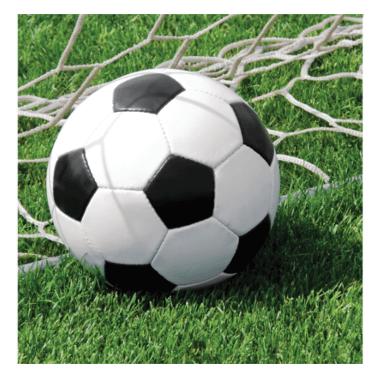 Servietten Fußball 33cm, 18 Stück