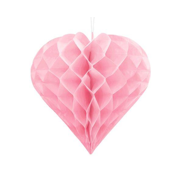 Wabenherz rosa, 30cm
